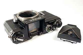 System camera - A Nikon F body and viewfinder