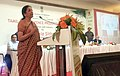 Nirmala Sitharaman addressing the meeting of the local defence and allied industrialists, MSMEs and other stakeholders to create synergy and further strengthen the defence ecosystem in Tiruchirappalli.jpg