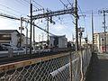Nishitetsu Tenjin-Omuta Line near Enoki Shrine (west).jpg