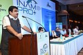 Nitin Gadkari addressing at the inauguration of the Skill Development of Workmen under Infrastructure Equipment Sector at NHIDCL and launch of INAM-pro+, in New Delhi.jpg