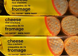 No name cheese rice crackers 2012 (cropped).jpg