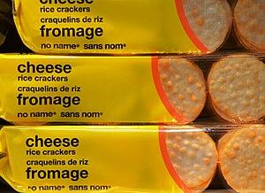 No Name (brand) - Image: No name cheese rice crackers 2012 (cropped)