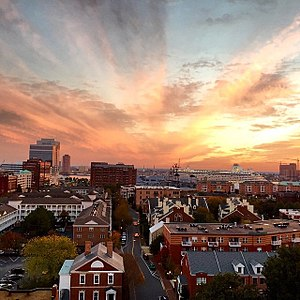 Downtown Norfolk, Virginia - Norfolk's Freemason Historic District at sunset