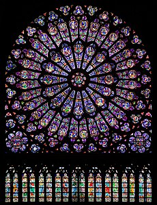 Rose Window In North Transept Of Notre Dame Cathedral