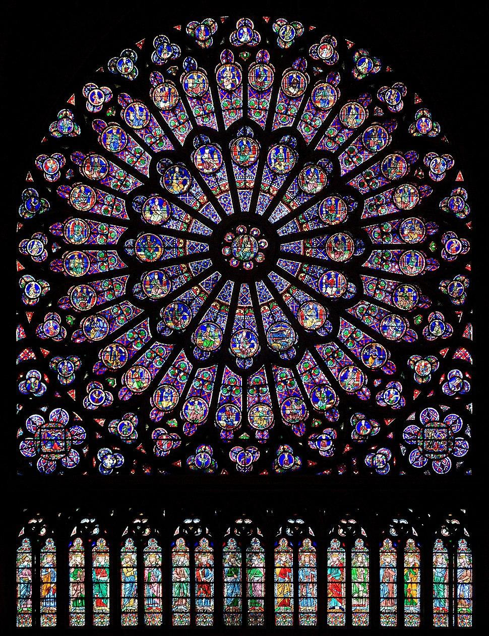 North rose window of Notre-Dame de Paris, Aug 2010