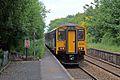 Northern Rail Class 150, 150220, Westhoughton railway station (geograph 4531835).jpg
