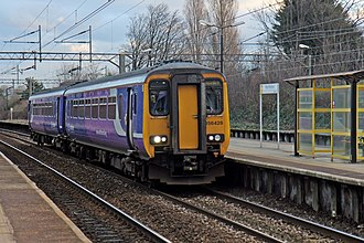 City Line (Merseyrail) - A Northern Rail Class 156 at West Allerton in January 2014