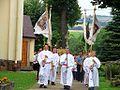 Nowotaniec. The choirboys follow the procession to church. 2008.jpg