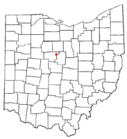 Location of Caledonia, Ohio