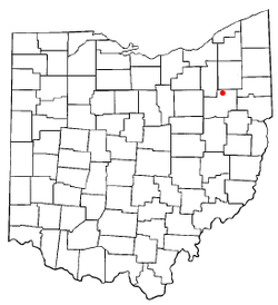 Location of Hartville, Ohio