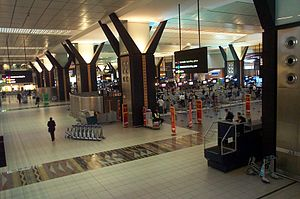 O. R. Tambo International Airport - Inside the O. R. Tambo International Airport.