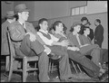 Oakland, California. Lockheed Testing Program. Waiting for routine interview before being tested for employment at... - NARA - 532194.tif
