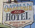 Oatman Hotel est 1902 sign Oatman AZ.jpg