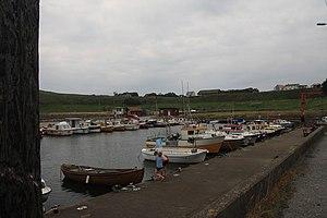 Obrestad - View of the village harbour