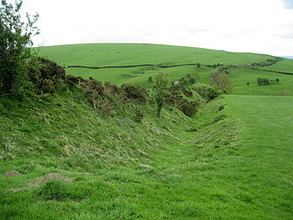Welsh Marches - Offa's Dyke near Clun in Shropshire