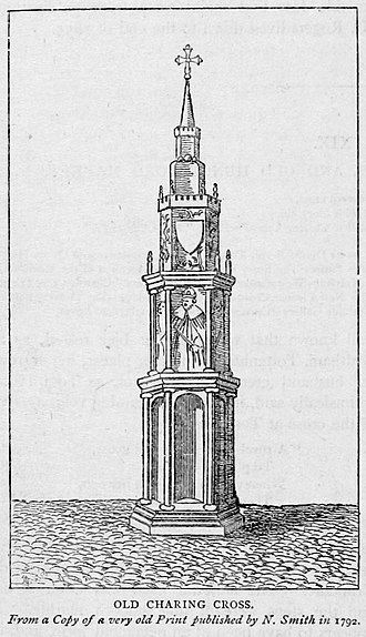 Eleanor cross - The original Eleanor Cross at what became known as Charing Cross, London.