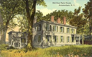 Guy Johnson - Guy Park house, Amsterdam, NY, c.1912 postcard