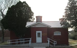 Ranch school - Image: Old Little Red Schoolhouse Beyerville Arizona 2014