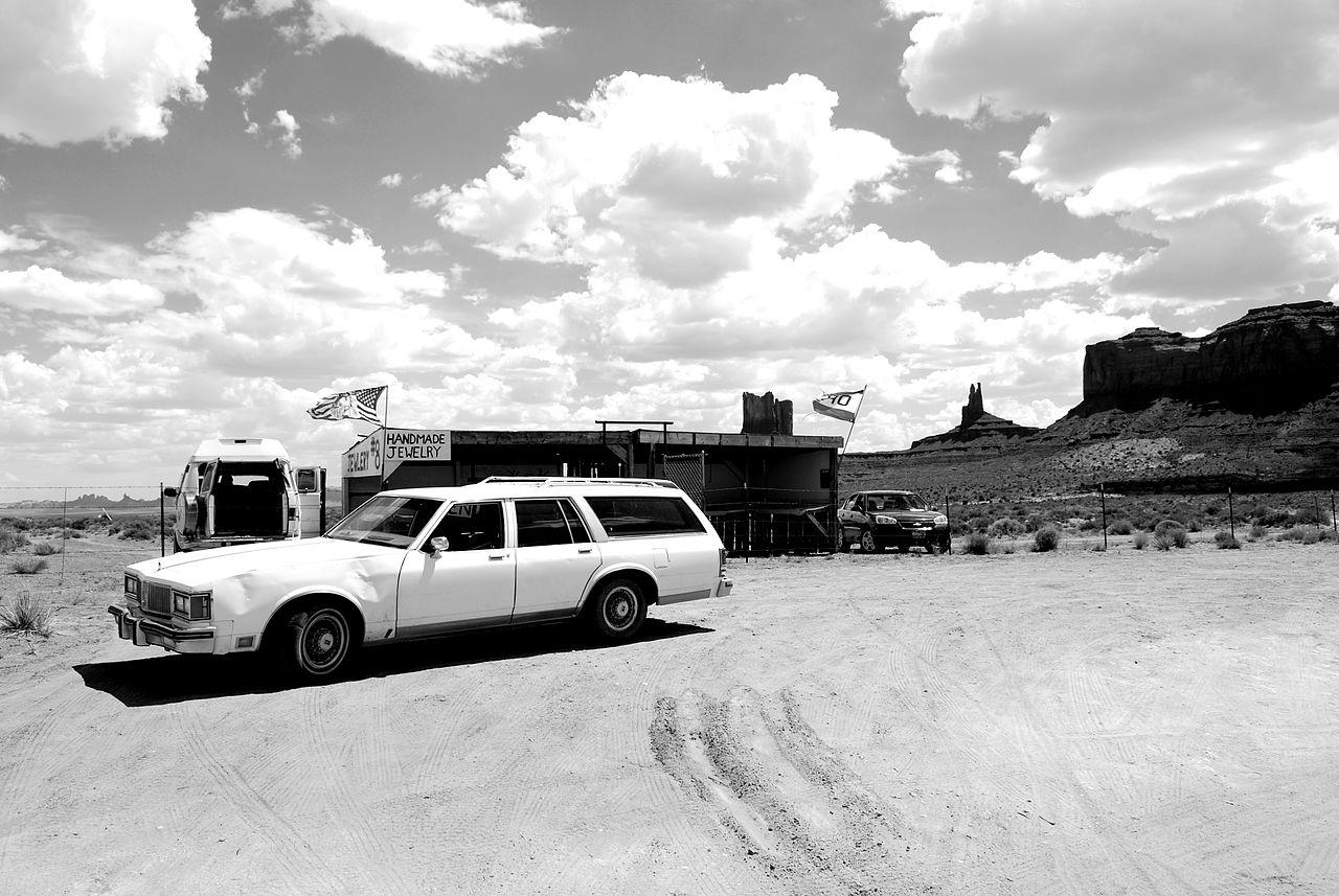 Old car on a desert