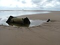 Old iron chimney on Spurn beach.jpg