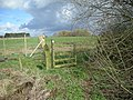 Old stile and new fence on path to Hawgreen - geograph.org.uk - 754336.jpg
