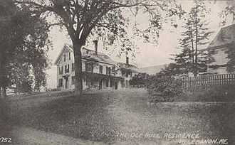 Ole Bull - Ironwell, his summer residence at West Lebanon, Maine purchased in 1871
