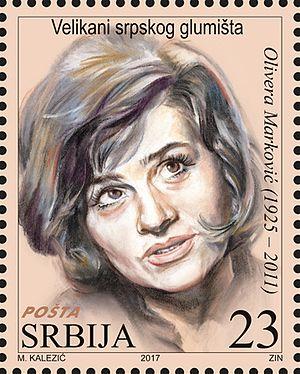 Olivera Marković - Image: Olivera Marković 2017 stamp of Serbia