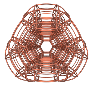 Stericated 5-simplexes - Stereographic projection