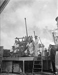 On Board the Greek Cruiser Hhms Giorgios Averoff. 23 February 1943, Port-said, Rear Admiral a Sakellariou, Commander in Chief of the Royal Hellenic Navy Flies His Flag in the Cruiser Hhms Giorgios Averoff. A15188.jpg