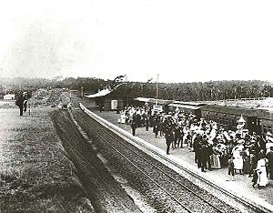 Bankstown railway station - Opening in 1909