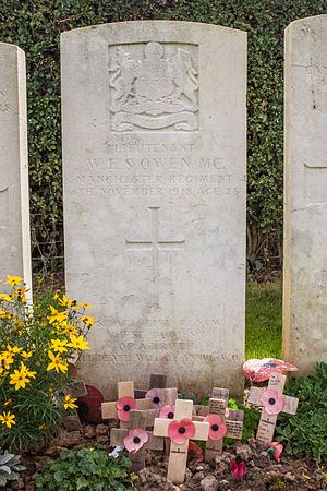 Wilfred Owen - Owen's grave, in Ors communal cemetery