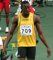 Usain Bolt is the current record holder of the 100 metres at 9.72 seconds.