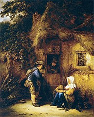 Traveller at a Cottage Door