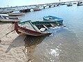 Overwhelmed fishing boat, Alvor, 28 September 2015.JPG