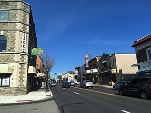 Jenkintown, Pennsylvania - Old York Road (PA 611) northbound in Jenkintown