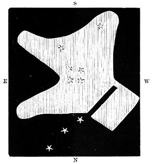 Guillaume Le Gentil - Le Gentil's drawing of the Orion Nebula.