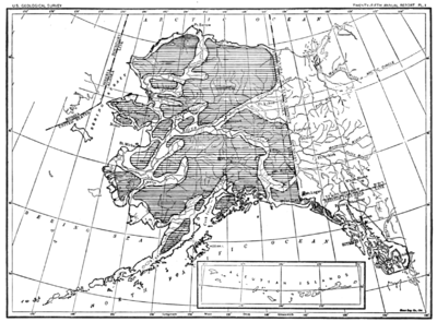 PSM V68 D054 Map of alaska illustrating progress of exploration up to 1904.png