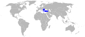 PZL P.24 - Map showing countries that operated the P.24