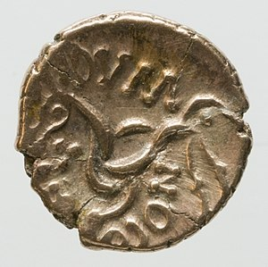 Corieltauvi - Image: Pale gold stater of the Corieltauvi obverse YORYM 2014 394
