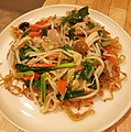 Pan fried chinese noodles with pork vegetable gravy 豚野菜あんかけかた焼きそば.jpg