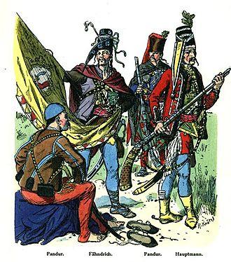Battle of Sahay - Croatian pandurs from 1742.