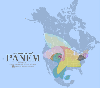 English: A map of the fictional nation of Pane...