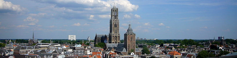 Panorama of Utrecht with the Dom and the Buurkerk, 2008