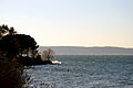 Panorama and waves on Lake of Bracciano.jpg