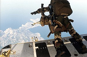 High-altitude military parachuting - 2eme REP Legionnaires HALO jump from a C-160.