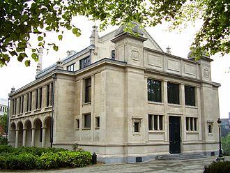 Leopold Park - Image: Parc Leopold Bruxelles, ancienne bibliothèque Solvay