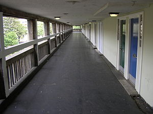 Park Hill, Sheffield - A typical deck at Park Hill.