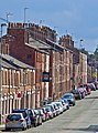 Parked cars and houses along Catherine St, Macclesfield.jpg