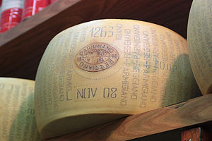 English: Parmigiano-Reggiano, also known as Pa...