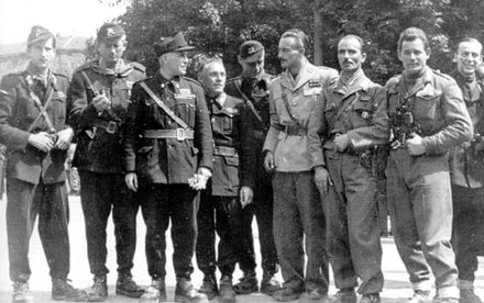 Some members of the Italian resistance in Ossola, 1944. Partigiani Ossola.jpg